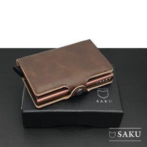 Saku Official - Dompet Kartu Saku Leather Coffee